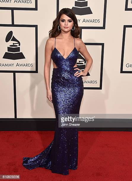 Recording artist Selena Gomez attends The 58th GRAMMY Awards at Staples Center on February 15 2016 in Los Angeles California