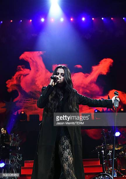 Recording artist Selena Gomez performs onstage during 102.7 KIIS FM's Jingle Ball 2015 Presented by Capital One at STAPLES CENTER on December 4, 2015...