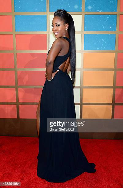 Recording artist Sevyn Streeter attends the 2014 Soul Train Music Awards at the Orleans Arena on November 7 2014 in Las Vegas Nevada