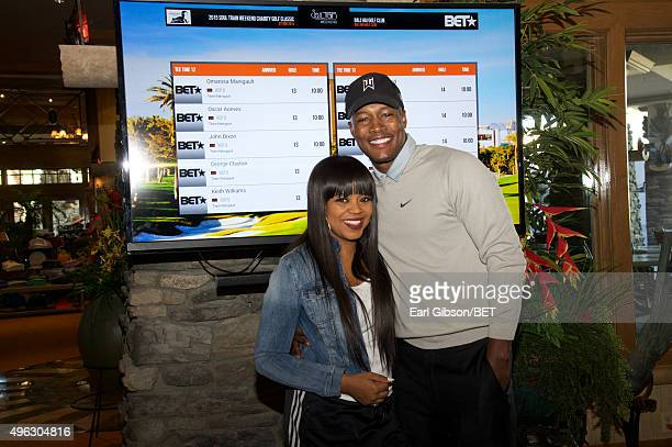 Recording Artist Shanice and Actor Flex Alexander attend the Soul Train Weekend Charity Golf Classic on November 7 2015 in Las Vegas Nevada