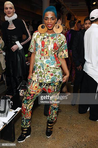 Recording artist Sharaya J attends The Blonds fashion show during MADE Fashion Week September 2016 at Milk Studios on September 11 2016 in New York...