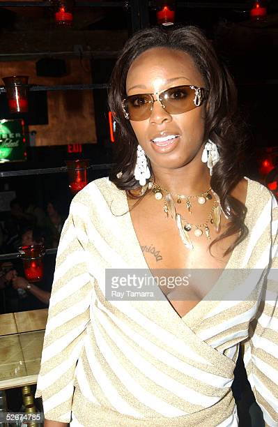 Recording artist Sharissa poses for photos at Sister 2 Sister's Sweet 16th Gala at Crobar April 20 2005 in New York City