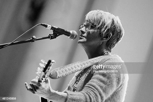 Recording artist Shawn Colvin rehearses on stage for The Life Songs of Emmylou Harris An All Star Concert Celebration at DAR Constitution Hall on...