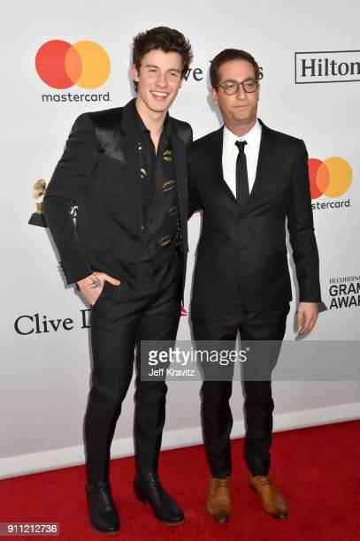 Recording artist Shawn Mendes and talent manager Andrew Gertler attend the Clive Davis and Recording Academy PreGRAMMY Gala and GRAMMY Salute to...