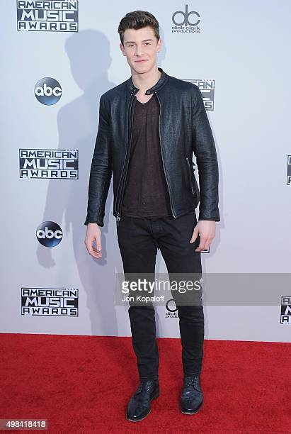 Recording artist Shawn Mendes arrives at the 2015 American Music Awards at Microsoft Theater on November 22 2015 in Los Angeles California
