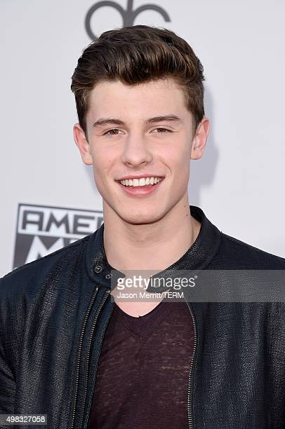 Recording artist Shawn Mendes attends the 2015 American Music Awards at Microsoft Theater on November 22 2015 in Los Angeles California