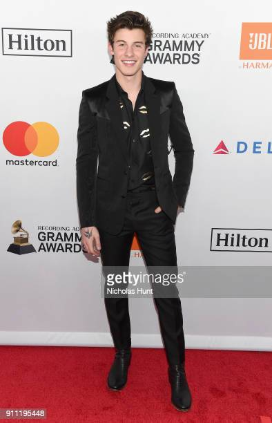Recording artist Shawn Mendes attends the Clive Davis and Recording Academy Pre-GRAMMY Gala and GRAMMY Salute to Industry Icons Honoring Jay-Z on...