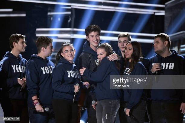 Recording artist Shawn Mendes perfroms onstage during the 2018 Billboard Music Awards at MGM Grand Garden Arena on May 20 2018 in Las Vegas Nevada