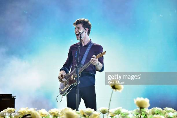 Recording artist Shawn Mendes performs onstage at the 2018 Billboard Music Awards at MGM Grand Garden Arena on May 20 2018 in Las Vegas Nevada