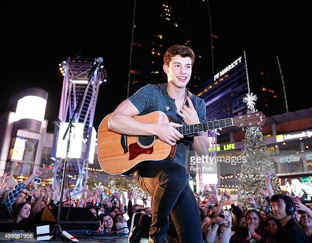Recording artist Shawn Mendes performs onstage during 1027 KIIS FM's Jingle Ball Village at KIIS FM's Jingle Ball 2015 Presented by Capital One...