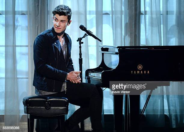 Recording artist Shawn Mendes performs onstage during the 2016 Billboard Music Awards at TMobile Arena on May 22 2016 in Las Vegas Nevada