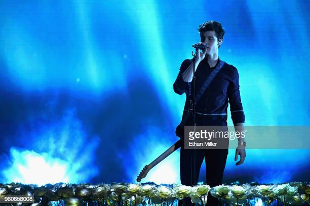 Recording artist Shawn Mendes performs onstage during the 2018 Billboard Music Awards at MGM Grand Garden Arena on May 20 2018 in Las Vegas Nevada
