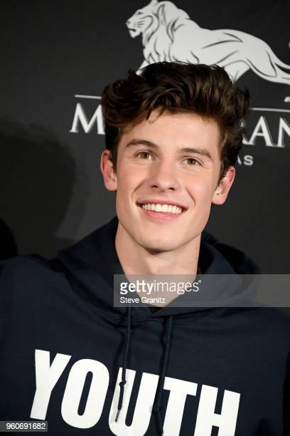 Recording artist Shawn Mendes poses in the press room during the 2018 Billboard Music Awards at MGM Grand Garden Arena on May 20 2018 in Las Vegas...