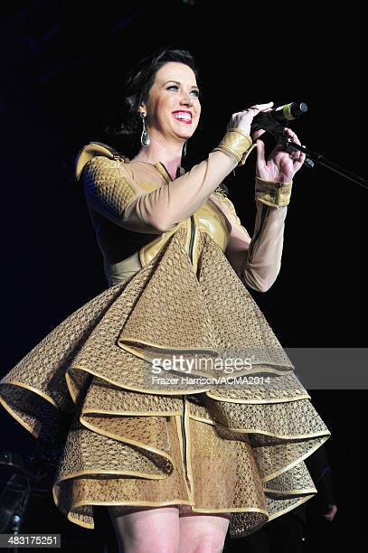 Recording artist Shawna Thompson of music group Thompson Square performs onstage at the 49th Annual Academy of Country Music Awards All Star Jam at...