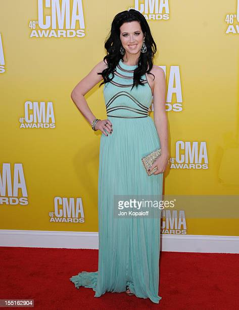 Recording artist Shawna Thompson of Thompson Square attends the 46th annual CMA Awards at the Bridgestone Arena on November 1 2012 in Nashville...