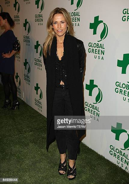 Recording artist Sheryl Crow arrives at Global Green USA's 6th Annual PreOscar Party held at Avalon Hollwood on Februray 19 2009 in Hollywood...