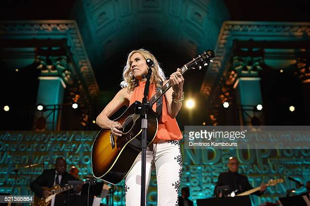 Recording artist Sheryl Crow performs onstage during Stand Up To Cancer's New York Standing Room Only presented by Entertainment Industry Foundation...