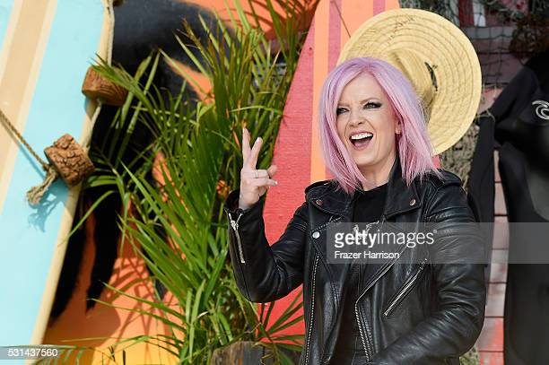 Recording artist Shirley Manson of music group Garbage attends KROQ Weenie Roast 2016 at Irvine Meadows Amphitheatre on May 14 2016 in Irvine...
