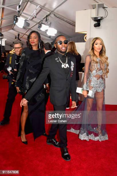 Recording artist Shy Glizzy and Blaidy G attends the 60th Annual GRAMMY Awards at Madison Square Garden on January 28 2018 in New York City