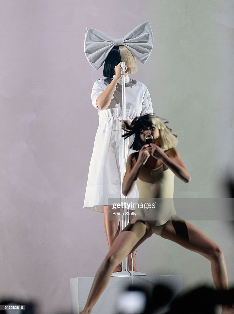 Sia And Miguel In Concert At Mandalay Bay In Las Vegas : News Photo