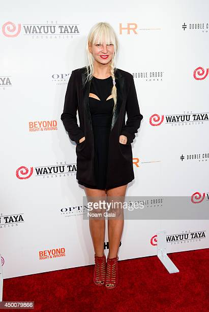 Recording Artist Sia attends the 2014 Wayuu Taya Gala Honoring Kimora Lee Simmons at Trump SoHo on June 4 2014 in New York City