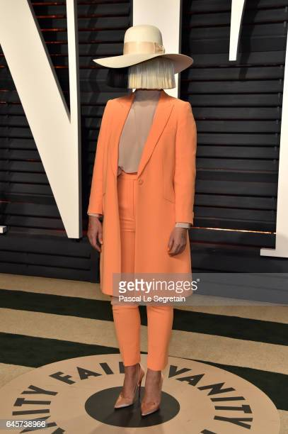 Recording artist Sia attends the 2017 Vanity Fair Oscar Party hosted by Graydon Carter at Wallis Annenberg Center for the Performing Arts on February...