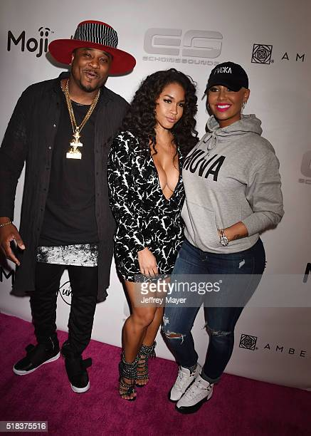 Recording artist Sincere Show fitness trainer Rosa Acosta and model Amber Rose host a Takeover event at Dave Busters on March 30 2016 in Hollywood...