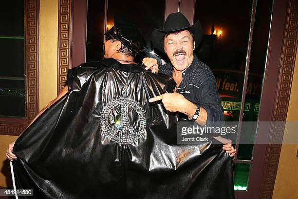 Recording artist Sir Ivan and singer Randy Jones of Village People pose as Sir Ivan celebrates his antibullying anthem Kiss All The Bullies Goodbye...