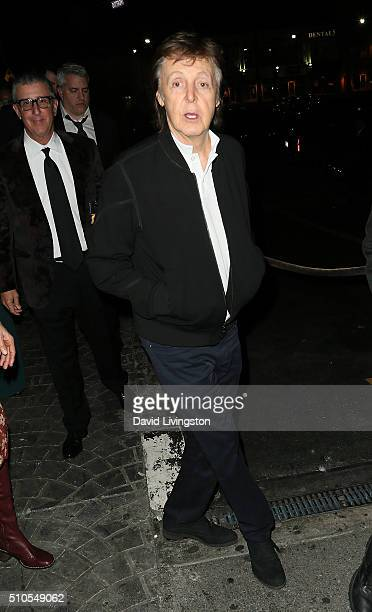 Recording artist Sir Paul McCartney attends Republic Records Private GRAMMY Celebration at HYDE Sunset Kitchen Cocktails on February 15 2016 in West...