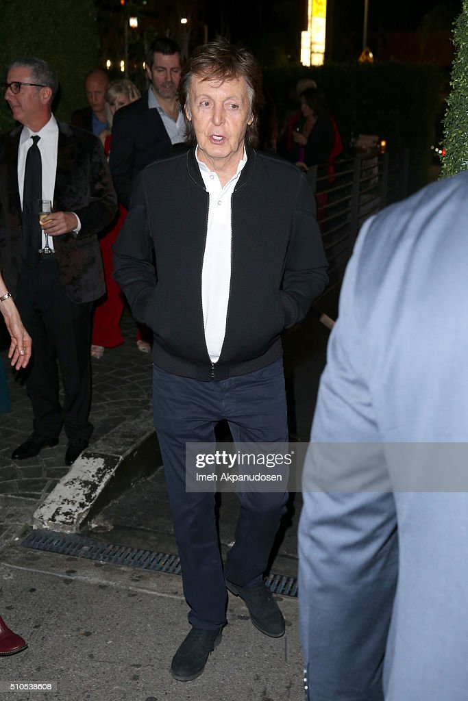 Recording artist Sir Paul McCartney attends the Republic Records Grammy Celebration presented by Chromecast Audio at Hyde Sunset Kitchen & Cocktail on February 15, 2016 in Los Angeles, California.