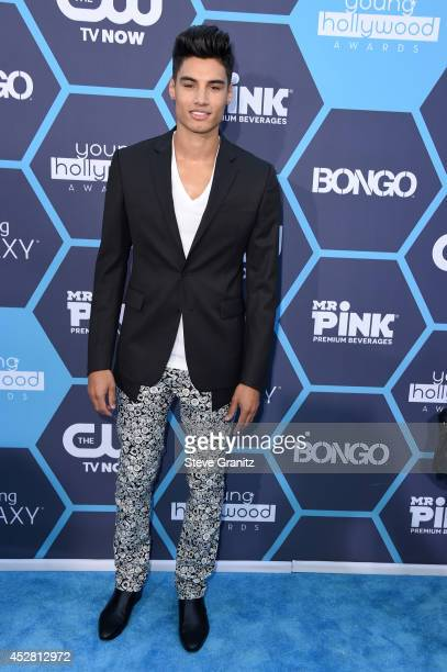 Recording artist Siva Kaneswaran attends the 2014 Young Hollywood Awards brought to you by Samsung Galaxy at The Wiltern on July 27 2014 in Los...