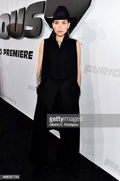 Recording artist Skylar Grey attends Universal Pictures' 'Furious 7' premiere at TCL Chinese Theatre on April 1 2015 in Hollywood California