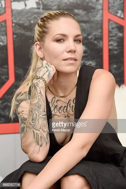 Recording artist Skylar Grey spends time at The Patch during the 2016 Billboard Hot 100 Festival Day 2 at Nikon at Jones Beach Theater on August 21...