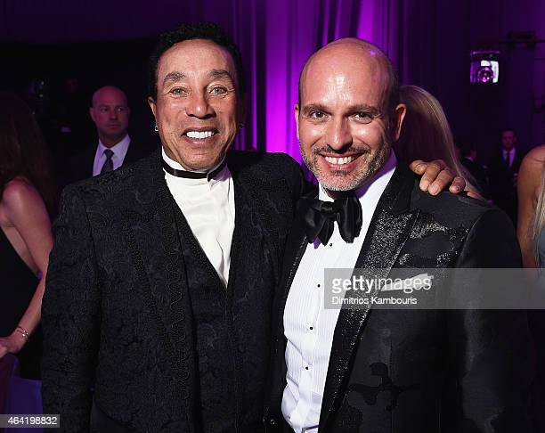 Recording artist Smokey Robinson and Alessandro Maria Ferreri attend the 23rd Annual Elton John AIDS Foundation Academy Awards Viewing Party on...