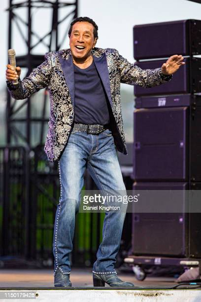 Recording artist Smokey Robinson performs on stage at San Diego County Fair on June 15, 2019 in Del Mar, California.