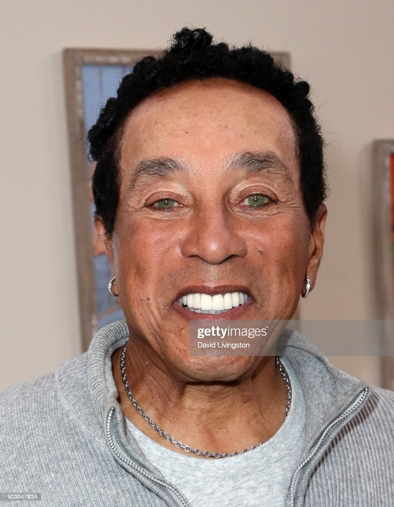 Recording artist Smokey Robinson visits Hallmark's 'Home & Family' at Universal Studios Hollywood on February 23, 2018 in Universal City, California.