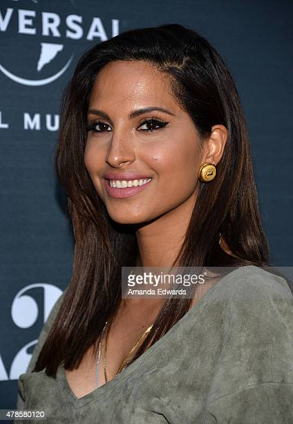 Recording artist Snoh Aalegra arrives at the premiere of A24 Films Amy at the ArcLight Cinemas on June 25 2015 in Hollywood California