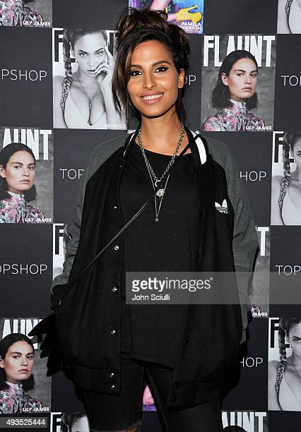 Recording Artist Snoh Aalegra attends Flaunt Magazine and Topshop celebration of the launch of The CALIFUK issue at Le Jardin on October 20 2015 in...