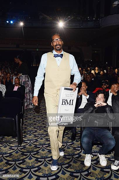 Recording artist Snoop Dogg accepts the award for My Hitta at the 2015 BMI RB/HipHop Awards at Saban Theatre on August 28 2015 in Beverly Hills...