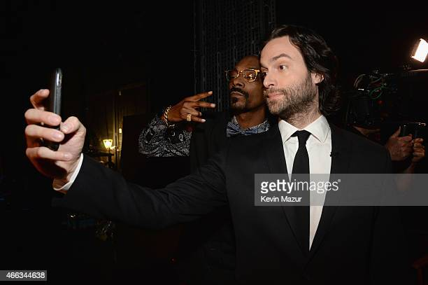 Recording artist Snoop Dogg and actor Chris D'Elia attend The Comedy Central Roast of Justin Bieber at Sony Pictures Studios on March 14 2015 in Los...