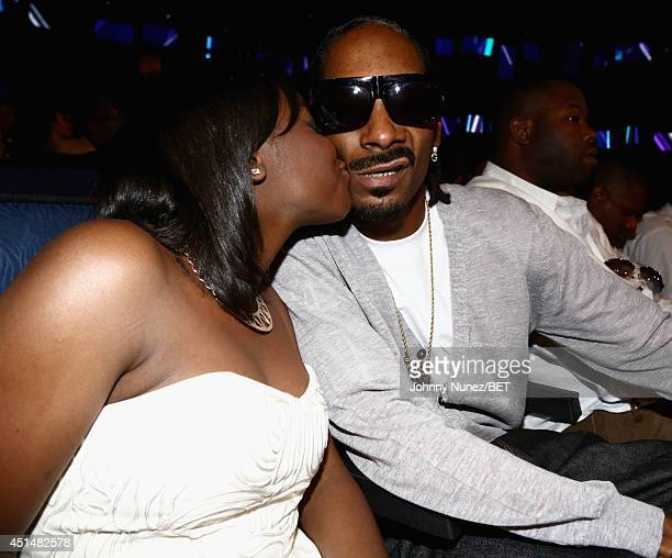 Recording artist Snoop Dogg and Cori Broadus attend the BET AWARDS '14 at Nokia Theatre LA LIVE on June 29 2014 in Los Angeles California