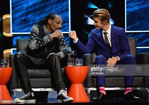 Recording artist Snoop Dogg and honoree Justin Bieber attend The Comedy Central Roast of Justin Bieber at Sony Pictures Studios on March 14, 2015 in...