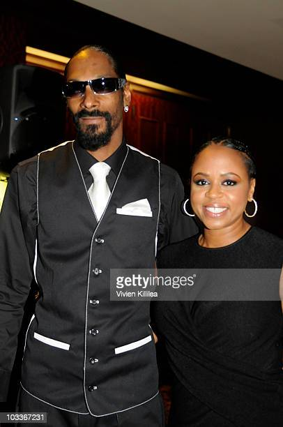 Recording artist Snoop Dogg and Shante Broadus attend the 10th Annual Harold Pump Foundation Gala Inside at the Hyatt Regency Century Plaza on August...
