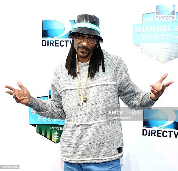 Recording artist Snoop Dogg attends Day 3 of the DirecTV Super Fan Festival at Pendergast Family Farm on January 30 2015 in Glendale Arizona