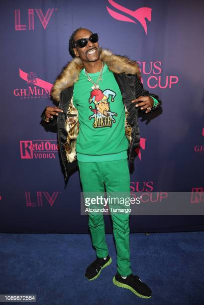 Recording artist Snoop Dogg attends the 2019 Pegasus World Cup at Gulfstream Park on January 26 2019 in Hallandale Florida