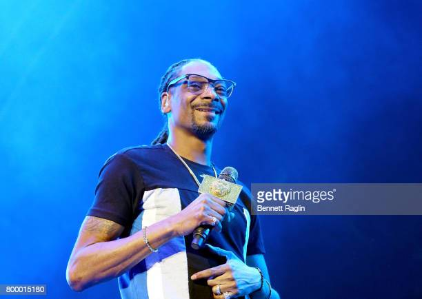 Recording artist Snoop Dogg performs onstage at night one of the 2017 BET Experience STAPLES Center Concert sponsored by Hulu at Staples Center on...
