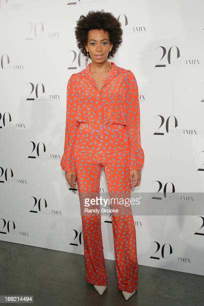 Recording Artist Solange attends the Intermix 20th Anniversary Celebration at The New Museum on May 21 2013 in New York City