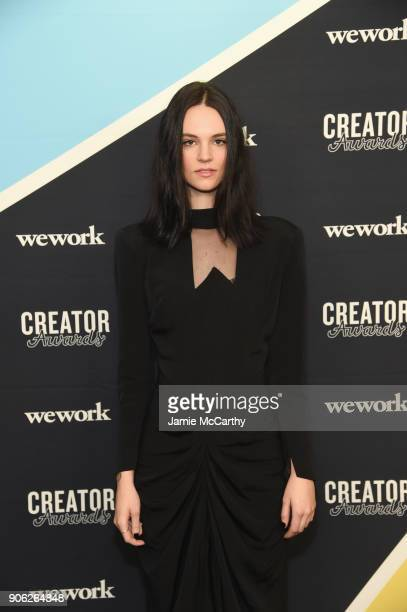 Recording Artist Soren Bryce attends as WeWork presents Creator Awards Global Finals at the Theater At Madison Square Garden on January 17 2018 in...