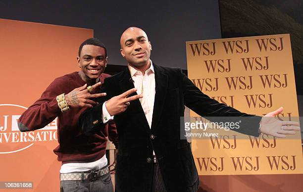 Recording artist Soulja Boy and Wall Street Journal reporter Lee Hawkins attend Wall Street Journal Conversations at David Rubenstein Atrium on...