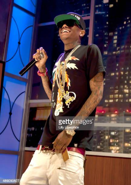 Recording artist Soulja Boy performs for What's Trending at YouTube Space LA on May 9 2014 in Los Angeles California